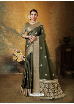 Mehendi Designer Party Wear Art Silk Sari