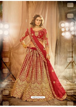 Maroon Heavy Embroidered Designer Bridal Lehenga Choli