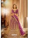 Purple Heavy Embroidered Designer Bridal Lehenga Choli