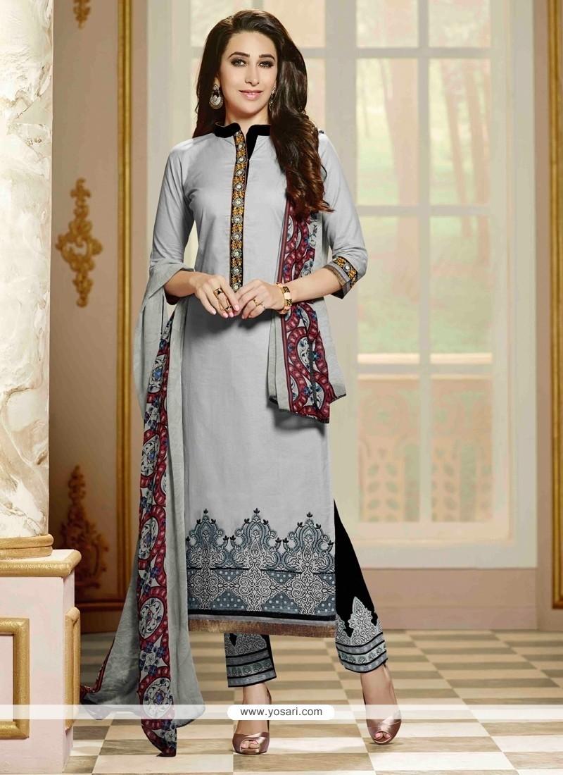 Karishma Kapoor Cotton Designer Straight Suit