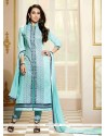 Karishma Kapoor Cotton Lace Work Designer Straight Salwar Suit