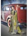 Multi Colour Designer Casual Wear Moss Chiffon Sari