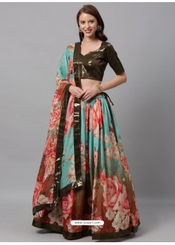 Multi Colour Heavy Designer Party Wear Lehenga