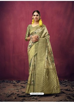 Green Designer Party Wear Art Silk Sari