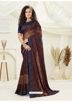 Multi Colour Designer Party Wear Indian Lycra Sari