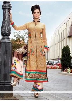 Perfervid Beige Designer Palazzo Salwar Suit