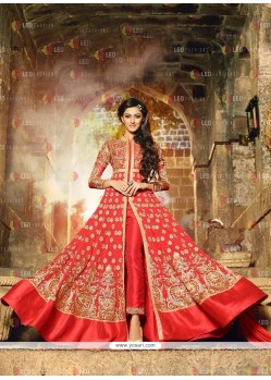Gorgonize Red Georgette Anarkali Salwar Kameez