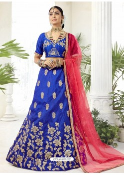 Royal Blue Heavy Designer Party Wear Lehenga