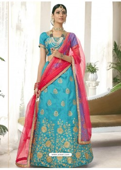 Blue Heavy Designer Party Wear Lehenga