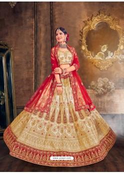 Gold Heavy Designer Wedding Lehenga Choli