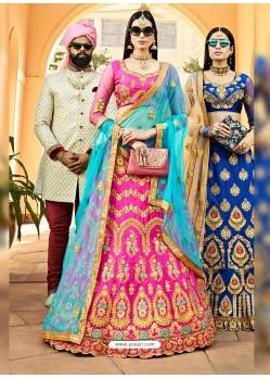 Rani Heavy Designer Wedding Wear Silk Lehenga Choli