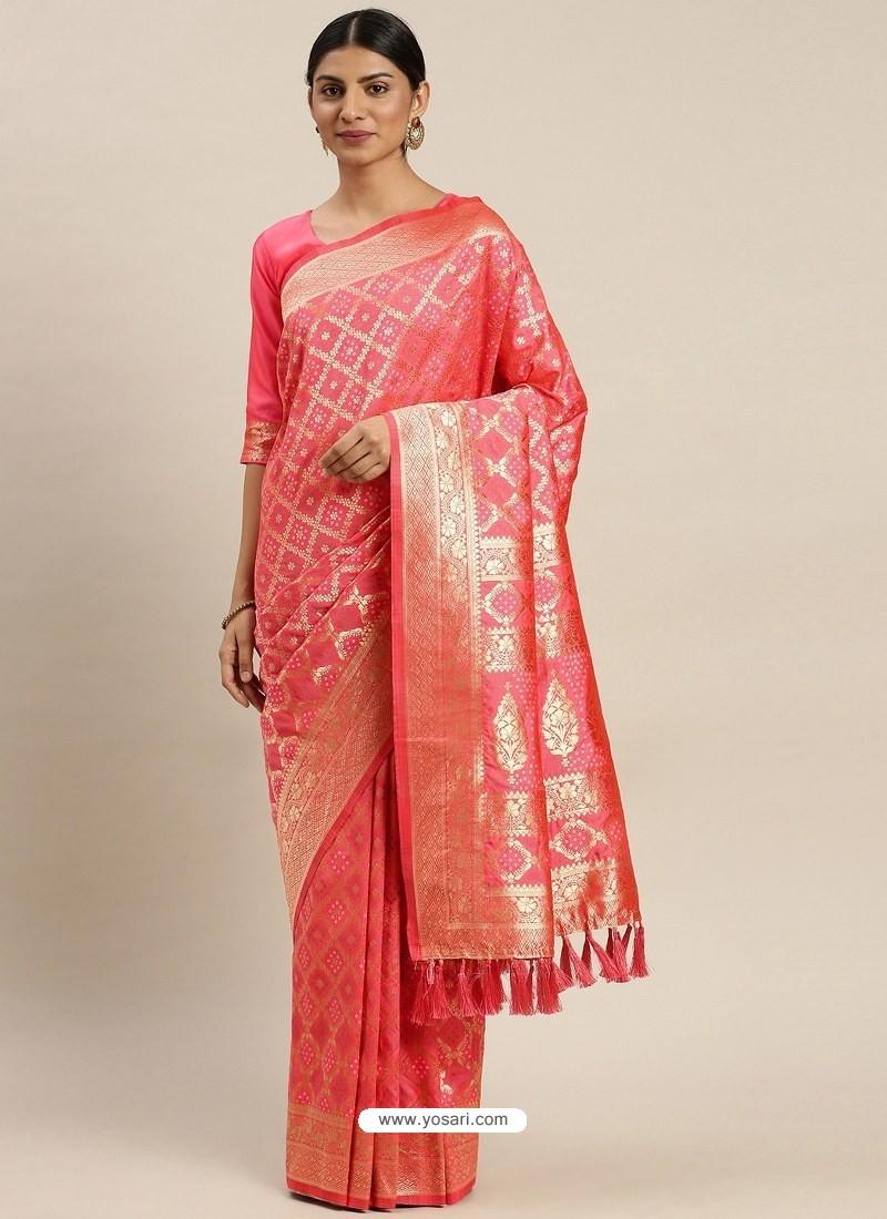 Peach Heavy Embroidered Designer Party Wear Sari