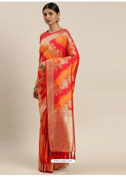 Multi Colour Heavy Embroidered Designer Party Wear Sari