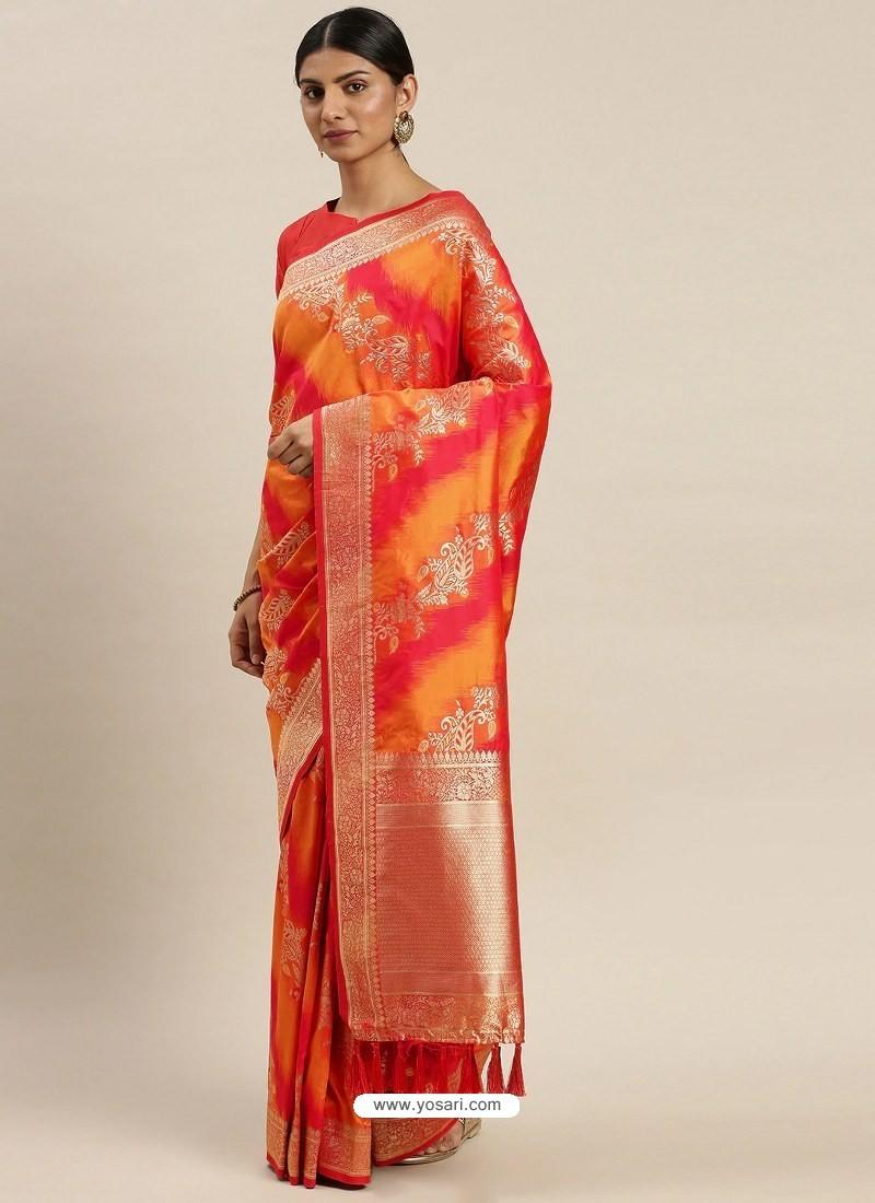 Multi Colour Heavy Embroidered Designer Party Wear Sari
