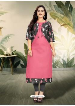 Light Pink Designer Party Wear Readymade Kurti