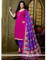 Enthralling Lace Work Churidar Designer Suit