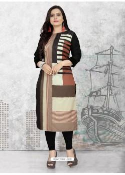 Multi Colour Designer Party Wear Readymade Kurti