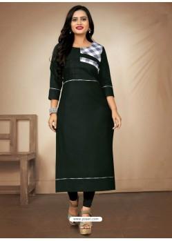 Dark Green Designer Party Wear Readymade Kurti