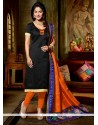 Ruritanian Banglori Silk Black Churidar Designer Suit