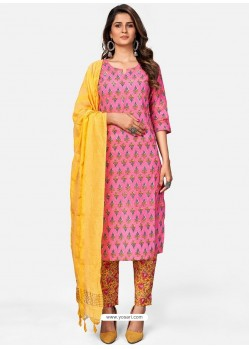 Light Pink Readymade Party Wear Kurti With Bottom