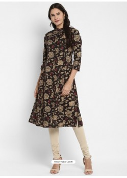 Black Designer Party Wear Readymade Kurti