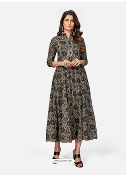Multi Colour Designer Party Wear Readymade Kurti