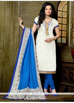 Angelic Banglori Silk Lace Work Churidar Designer Suit