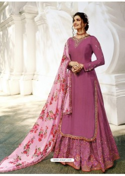 Deep Wine Muslin Satin Designer Party Wear Wedding Suit