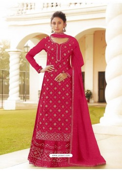Rani Chinon Designer Party Wear Wedding Suit