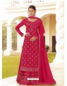 Rani Chinon Designer Party Wear Wedding Suit