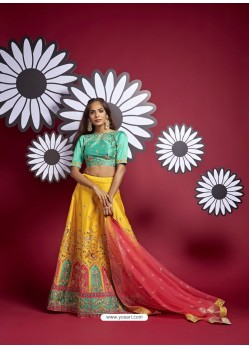 Yellow Heavy Designer Wedding Wear Lehenga Choli