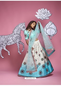 White Heavy Designer Wedding Wear Lehenga Choli