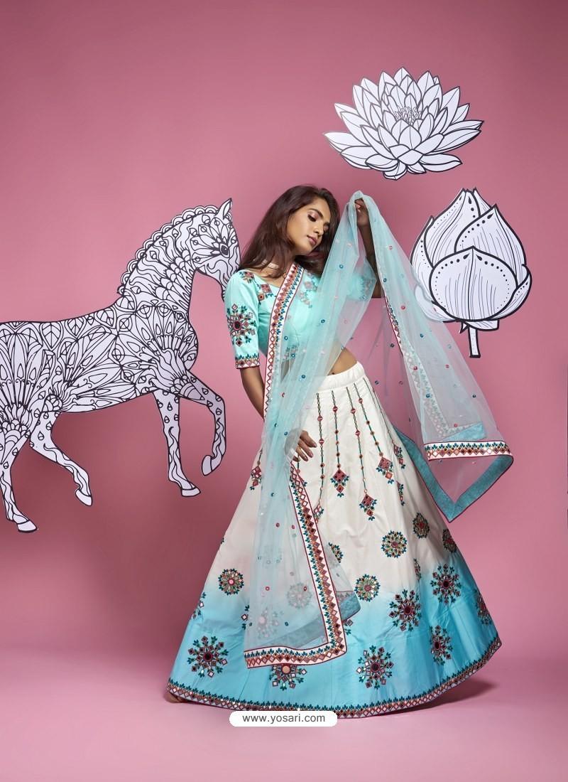 White Heavy Designer Wedding Wear Lehenga Choli