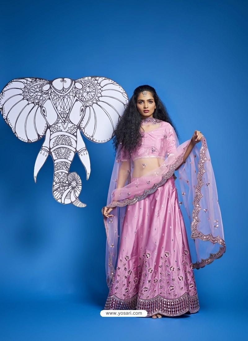 Pink Heavy Designer Wedding Wear Lehenga Choli