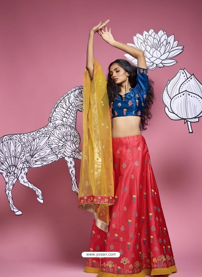 Red Heavy Designer Wedding Wear Lehenga Choli