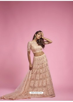 Light Beige Heavy Designer Wedding Wear Lehenga Choli