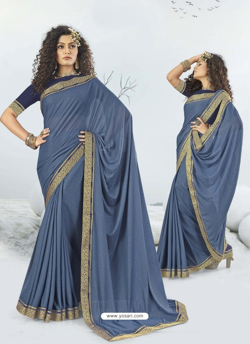 Pigeon Designer Party Wear Lycra Sari