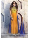 Lavish Resham Work Anarkali Salwar Suit