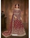 Maroon Heavy Designer Wedding Wear Lehenga Choli