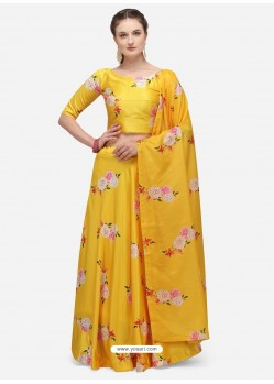 Yellow Heavy Designer Party Wear Lehenga Choli