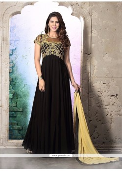 Genius Georgette Black Anarkali Salwar Suit