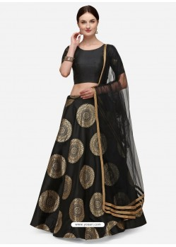 Black Heavy Designer Party Wear Lehenga Choli