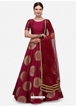 Maroon Heavy Designer Party Wear Lehenga Choli