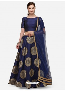 Navy Blue Heavy Designer Party Wear Lehenga Choli