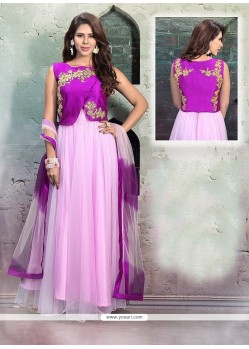 Fetching Net Purple Cutdana Work Anarkali Salwar Suit
