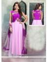 Fetching Net Purple Cutdana Work Anarkali Salwar Suit