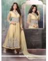 Picturesque Viscose Cream Anarkali Salwar Suit