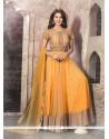 Paramount Yellow Patch Border Work Anarkali Salwar Suit