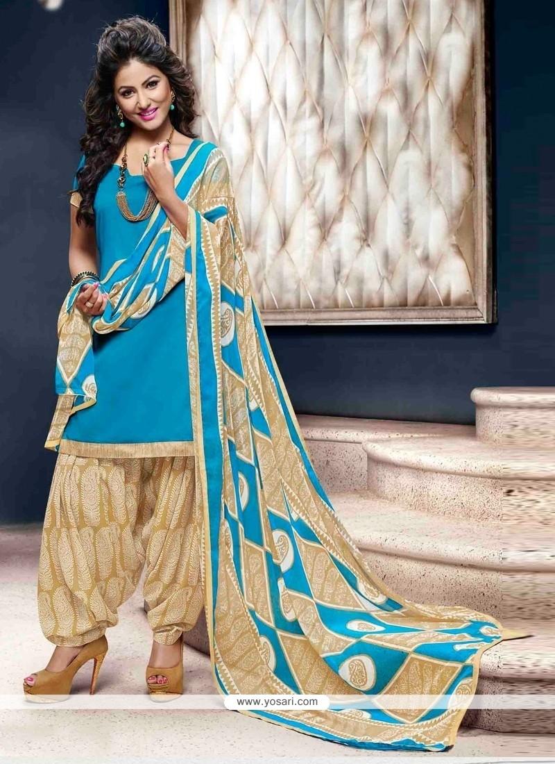 Resplendent Lace Work Cotton Designer Patiala Suit