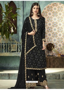 Black Georgette Designer Party Wear Palazzo Salwar Suit